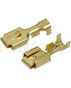 Narva 56226 Blade Female Terminal Non-insulated Brass with Locking tab for Single Q.C Housings 6.3 x 0.8mm dia (Pack of 100)