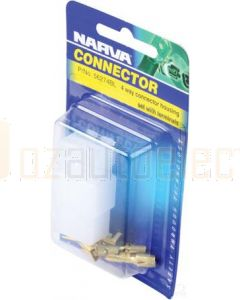 Narva 56274BL 4 way Quick Connector Housing with Terminals - Male & Female (Blister Pack)