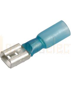 Blue Blade Heat Shrink Terminals - Female (50) 6.3mm 56330