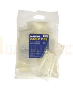 Narva 56430W White Cable Tie Bulk Pack
