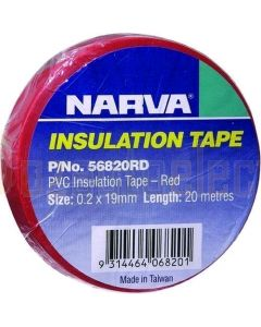 Narva 56820RD PVC Insulation Tape 19mm X 20m - Red