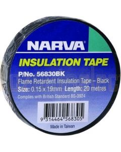 Narva 56830BK Flame Retardant Insulation Tape - Black