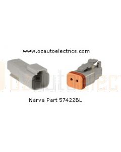 Narva 57422BL 2 Way Waterproof DEUTSCH Connectors - Male and Female (Blister Pack)
