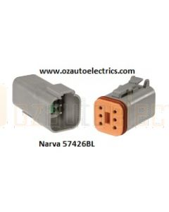 Narva 57426BL 6 Way Waterproof Deutsch Connector - Male and Female (Blister Pack)