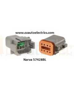 Narva 57428BL 8 way Waterproof Deutsch Connector Kit - Male and Female (Blister Pack)