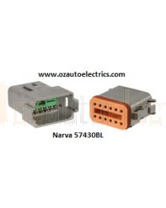 Narva 57430BL 12 way Waterproof Deutsch Connector Kit - Male and Female (Blister Pack)