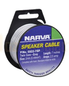 Narva 5822-7SP Grey/White Speaker & Figure 8 Cable 2mm (7m Roll)