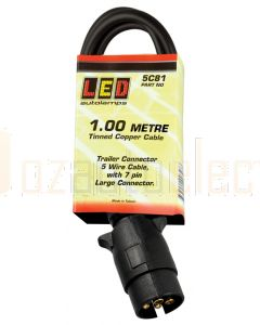 LED Autolamps Lamp to Gooseneck Cable (1000mm) 7 pin large connector