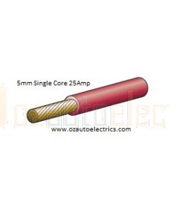 Narva 5815-100RD Red Single Core Cable 5mm (100m Roll)