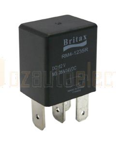 Britax C/over Micro Relay 12V 25/30a 5 PIN n/o Resistor Type