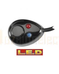 Narva 60095BL Off/On Push/Push Switch with L.E.D Indicators Pre-wired with Adhesive Back