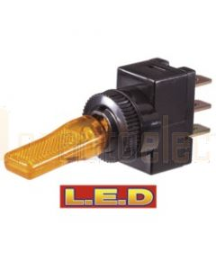 Narva 60255BL Off/On Toggle Switch with Amber L.E.D