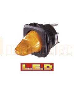 Narva 60270BL Duckbill Off/On Toggle Switch with Amber L.E.D