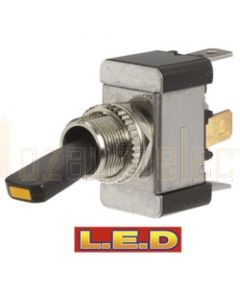 Narva 60280BL Off/On Heavy-Duty Toggle Switch with Amber L.E.D