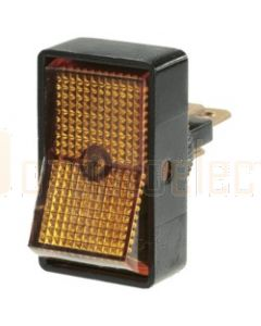 Narva 62021BL SPST Illuminated Off/On Rocker Switch (Amber)