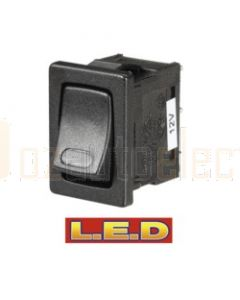 Narva 62061BL Off/On Micro Rocker Switch with Red L.E.D