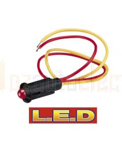 Narva 62077BL 24 Volt Pilot Lamp Pre-wired with Red L.E.D