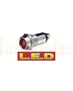Narva 62097BL 24 Volt Chrome Pilot Lamp with Red L.E.D