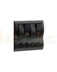 Narva 63190 4-Way L.E.D Switch Panel with Fuse Protection
