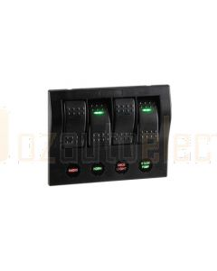 Narva 63191 4-Way L.E.D Switch Panel with Circuit Breaker Protection