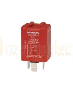 Narva 68245BL 12 Volt 3 Pin Electronic L.E.D Flasher - Blister Pack