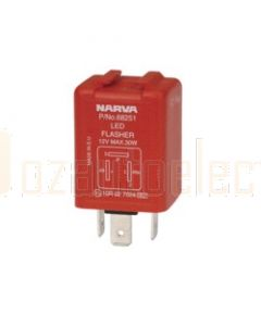 Narva 68251BL 12 Volt 3 Pin L.E.D Electronic Flasher with Pilot