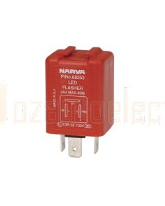Narva 68253BL 24 Volt 3 Pin L.E.D Electronic Flasher with Pilot
