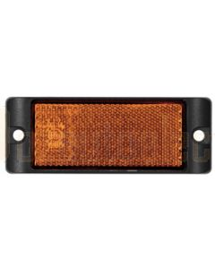 LED Autolamps 7035AB Amber Reflex Reflector with Mounting Bracket (Box of 100)