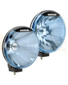 Narva 71700BE Ultima 225 Blue Combination Driving Lamp Kit 12 Volt 100W 225mm dia. Broad Beam, Pencil Beam Blister Pack