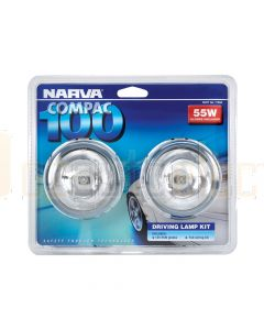 Narva 7180 Compac 100 Driving Lamp Kit 12 Volt 55W 100mm dia Blister Pack