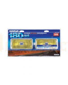 Narva 72260 Maxim 180/85 Yellow Fog Lamp Kit 12 Volt 55W Rectangular 180 x 85mm Blister Pack