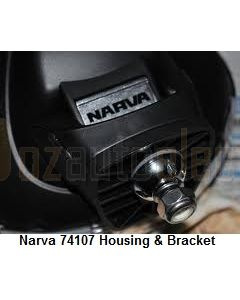 Narva 74107 Ultima 225 Broad Beam Driving Lamp Replacement Housing and Mounting Bracket