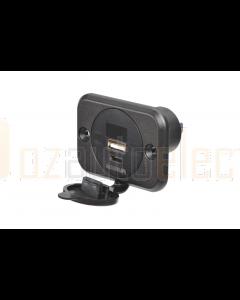 Narva 81106BL Heavy Duty USB/USB-C Socket with Volt/AMP Meter