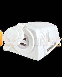 Narva 81154WBL Heavy-Duty Surface Mount Dual USB Socket