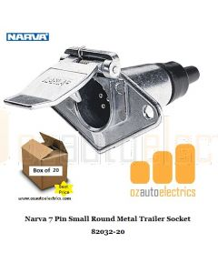 Narva 82032/20 7 Pin Small Round Metal Trailer Socket (20)