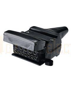 Narva 82072BL 12 Pin Flat Trailer Socket