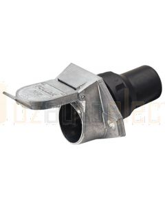 Narva 82094 7 Pin Heavy-Duty Round Metal Trailer Socket with Rubber Boot