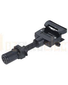 Narva 82215BL 7 Pin Small Round Socket on Car to 7 Pin Flat Plug on Trailer