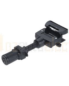 Narva 82220BL 6 Pin Small Round Socket on Car to 7 Pin Flat Plug on Trailer