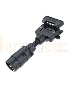 Narva 82235BL 7 Pin Large Round Socket on Car to 7 Pin Flat Plug on Trailer Adaptor