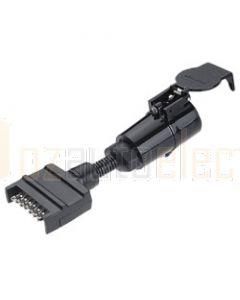 Narva 82245BL 7 Pin Flat Socket on Car to 7 Pin Large Round Plug on Trailer