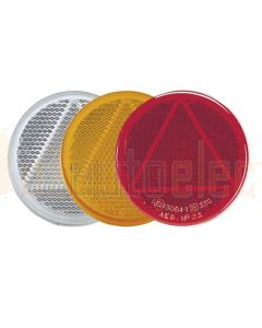 Clear Retro Reflector 65mm dia. with Self Adhesive (Bulk Pack of 50)