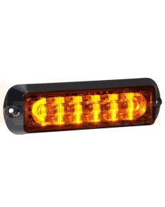 Narva 85218A 12/24V High Powered L.E.D Warning Light (Amber) - 6 x 1 Watt L.E.Ds