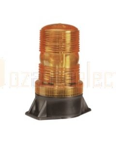 Single Flash Strobe Light (Amber) Flange Base 10-110 Volts