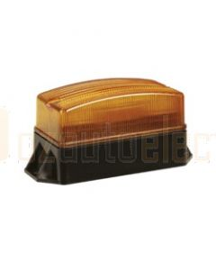 Narva-85340A-Single Flash Strobe Light  (Amber)  Flange Base 12-80 Volts