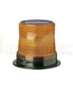 Narva 85350A Single Flash Sonically Sealed Strobe Light (Amber) Flange Base 12-80 Volts