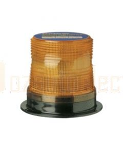 Narva 85360A Double Flash Sonically Sealed Strobe Light (Amber) Flange Base 12-48 Volts