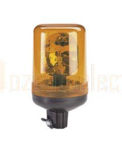 Narva 85421A Hi Optics 'Euro Flex' Rotating Beacon (Amber) Pipe Mount 12/24 Volt