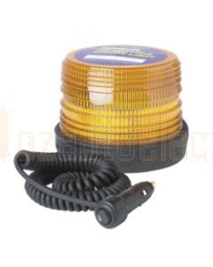 Narva 85446A Hi Optics Double Flash Strobe Light (Amber) Magnetic Base 12-48 Multi-Voltage