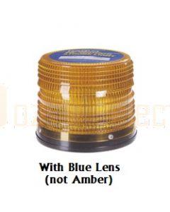 Narva 85454B Hi Optics Quad Flash Strobe Light (Blue) Low Profile Flange Base 12 or 24 Dual Voltage